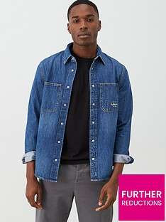 calvin-klein-jeans-iconic-long-sleeved-denim-shirt-bright-blue
