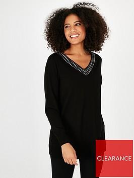 evans-v-neck-stud-sweater-black