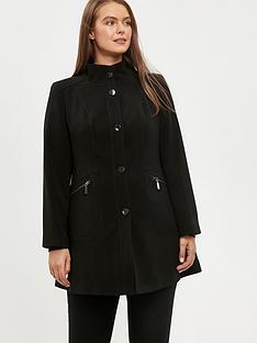 evans-double-crepe-funnel-coat-black