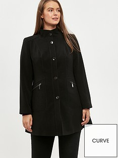 evans-double-crepe-funnel-coat-black
