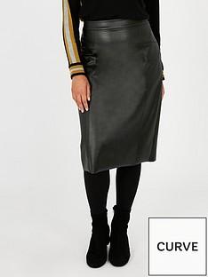 evans-faux-leather-pencil-skirt-black