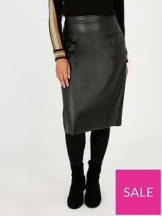 evans-faux-leather-pencil-skirt-black