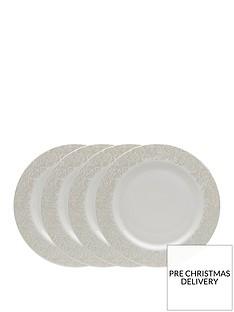 monsoon-denby-lucille-gold-4-piece-dinner-plate-set