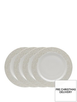 monsoon-denby-lucille-gold-4-piece-dinner-plate-set