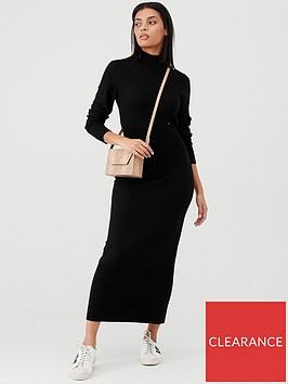 calvin-klein-superfine-wool-column-dress-black