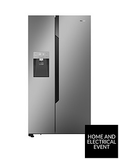 hisense-rs694n4td1-total-no-frost-american-style-fridge-freezer-with-non-plumbed-water-amp-ice-dispenser-silver