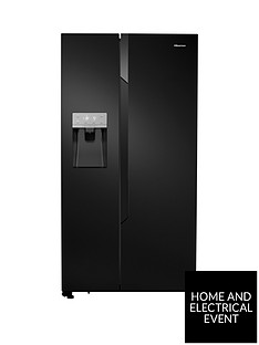 hisense-rs694n4tb1-total-no-frost-american-style-fridge-freezer-with-water-amp-ice-dispenser-black