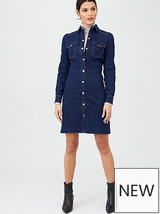 oasis-long-sleeve-denim-midi-shirt-dress-dark-wash