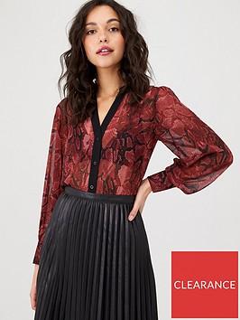 oasis-snake-print-shirt-multi-red