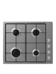 candy-candy-chw6lx-60cm-gas-hob-with-optional-installation--stainless-steel