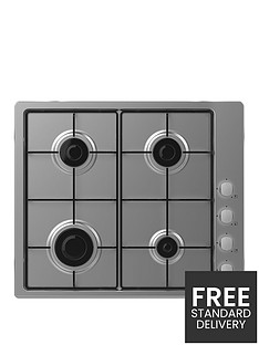 candy-chw6lx-60cm-gas-hob-with-optional-installationnbsp--stainless-steel