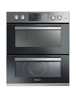 candy-fc7d415x-built-under-72cm-fan-double-oven-with-optional-installation--stainless-steel