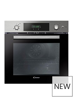candy-fcpk618sxe-built-in-60cm-multifunction-single-oven-with-optional-installation--stainless-steel