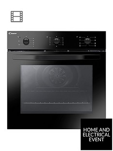candy-candy-fcs-602-ne-built-in-60cm-multifunction-single-oven-with-optional-installation--black