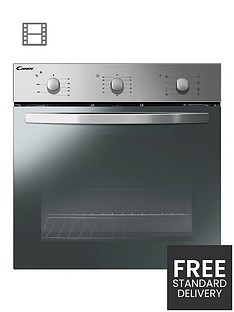 candy-fcs-602-ne-built-in-60cm-multifunction-single-oven-with-optional-installationnbsp--stainless-steel