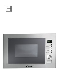 candy-mic25gdfx-25-litre-built-in-microwave-oven-with-grill-with-optional-installation-stainless-steel