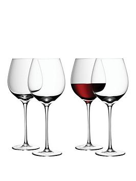 lsa-international-wine-collection-handmade-red-wine-goblets-ndash-set-of-4
