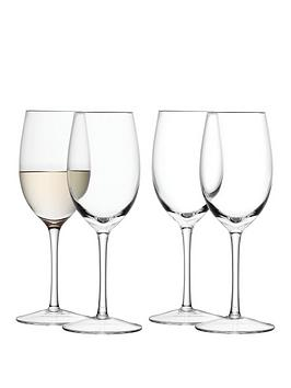 lsa-international-wine-collection-handmade-white-wine-goblets-ndash-set-of-4