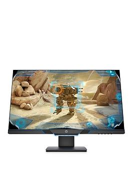 hp-27in-fhd-145hz-1ms-freesync-g-sync-compatible-height-adjust-gaming-monitor-blackneon-blue