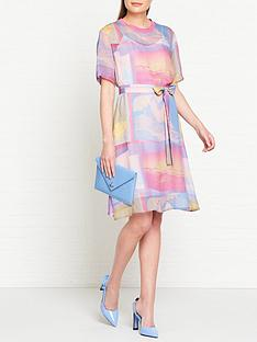 ps-paul-smith-surf-print-t-shirt-dress-pink