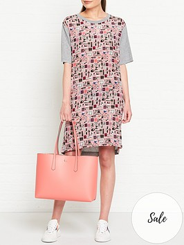 ps-paul-smith-summer-chills-print-woven-front-t-shirt-dress-pink