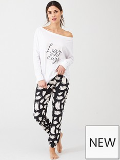 v-by-very-lazy-days-off-shoulder-cuff-trouser