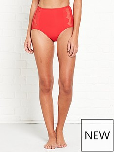 seafolly-seafolly-high-waist-petal-edge-bikini-briefs-red