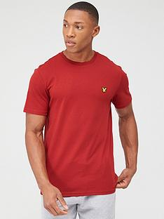 lyle-scott-fitness-martin-short-sleeved-t-shirt-red