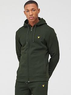 lyle-scott-fitness-full-zip-mid-layer-hoodie-deep-spruce-green