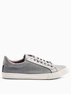 topman-topman-titan-check-trainers-grey