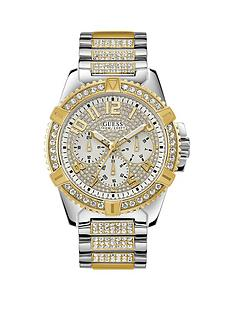 guess-guess-frontier-silver-and-gold-detail-crystal-set-chronograph-dial-two-tone-pave-stainless-steel-bracelet-mens-watch