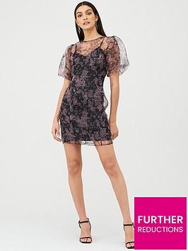 v-by-very-mesh-puff-sleeve-dress-print