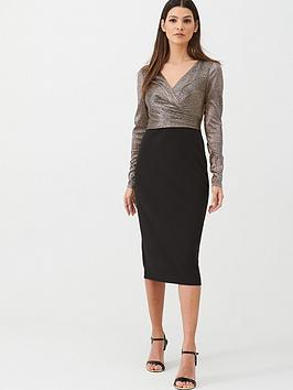 lauren-by-ralph-lauren-alexie-long-sleeve-cocktail-dress-blackgold