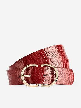 dorothy-perkins-dorothy-perkins-croc-two-part-buckle-belt-red