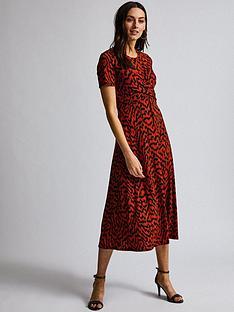 dorothy-perkins-dorothy-perkins-twist-ikat-print-midi-dress-red