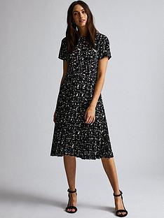 dorothy-perkins-dorothy-perkins-marble-pleated-midi-dress-black