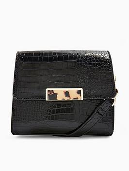 topshop-skye-croc-cross-body-bag-black
