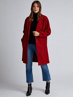 dorothy-perkins-dorothy-perkins-relaxed-masculine-coat-red
