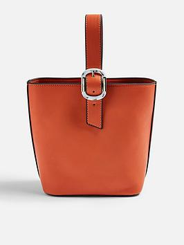 topshop-tilt-buckle-tote-bag-orange