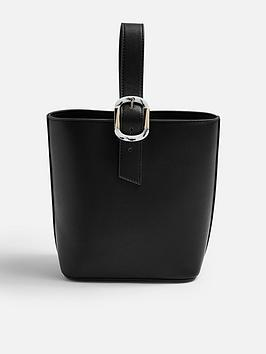 topshop-tilt-buckle-tote-bag-black