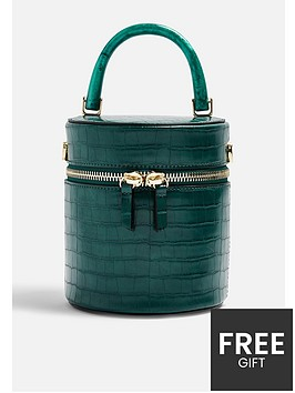 topshop-topshop-simi-croc-barrel-cross-body-bag-green