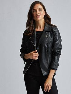 dorothy-perkins-dorothy-perkins-pu-biker-jacket-black