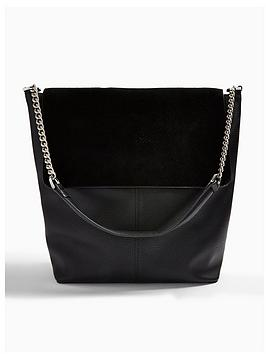 topshop-topshop-hattie-suede-mix-slouch-bag-black