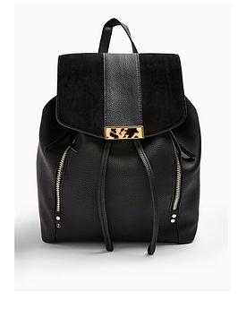 topshop-topshop-burst-backpack-black