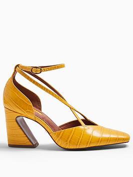 topshop-ghost-heel-detail-court-shoes-ochre