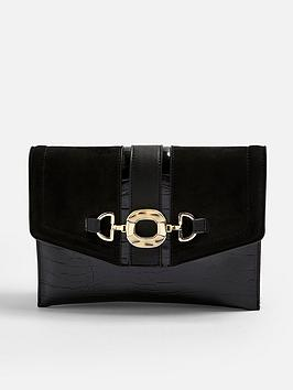 topshop-topshop-croc-clutch-bag-black