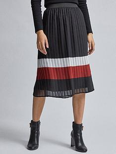 dorothy-perkins-dorothy-perkins-pleat-stripe-midi-skirt-multi