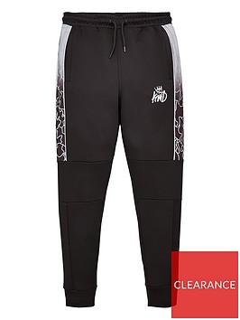 kings-will-dream-linden-reflective-jog-pants-black