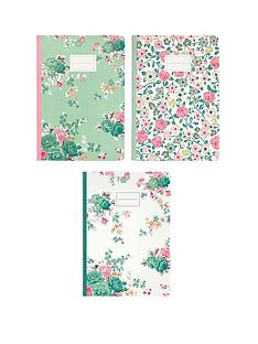 cath-kidston-cath-kidston-hedge-rose-set-of-three-notebooks