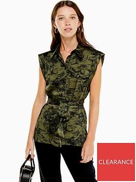 topshop-belted-utility-shirt-khaki